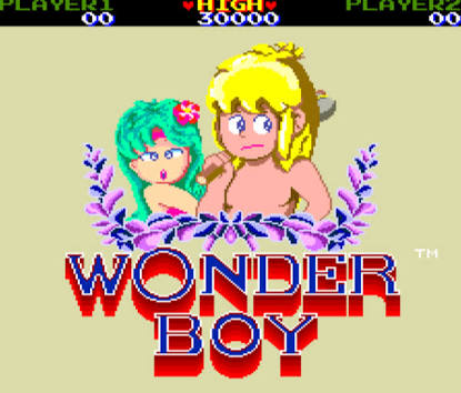 "Wonder Boy ""1"" da Sega"